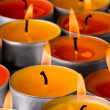 Flaming candles - Stock fotografie