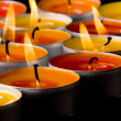 Flaming candles - Stock Photo