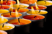 Flaming candles — Stock Photo