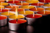 Flaming candle — Foto Stock