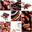 Stock Photo: Coffee and chocolate