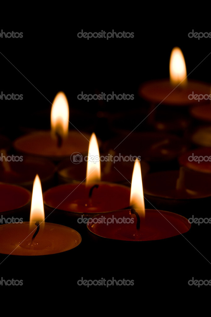 Flaming candles  — Stock Photo #2258680