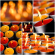 Flaming candles — Stock fotografie