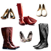 Shoes and boots — Stock Photo