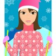 Royalty-Free Stock Vectorielle: Young skier