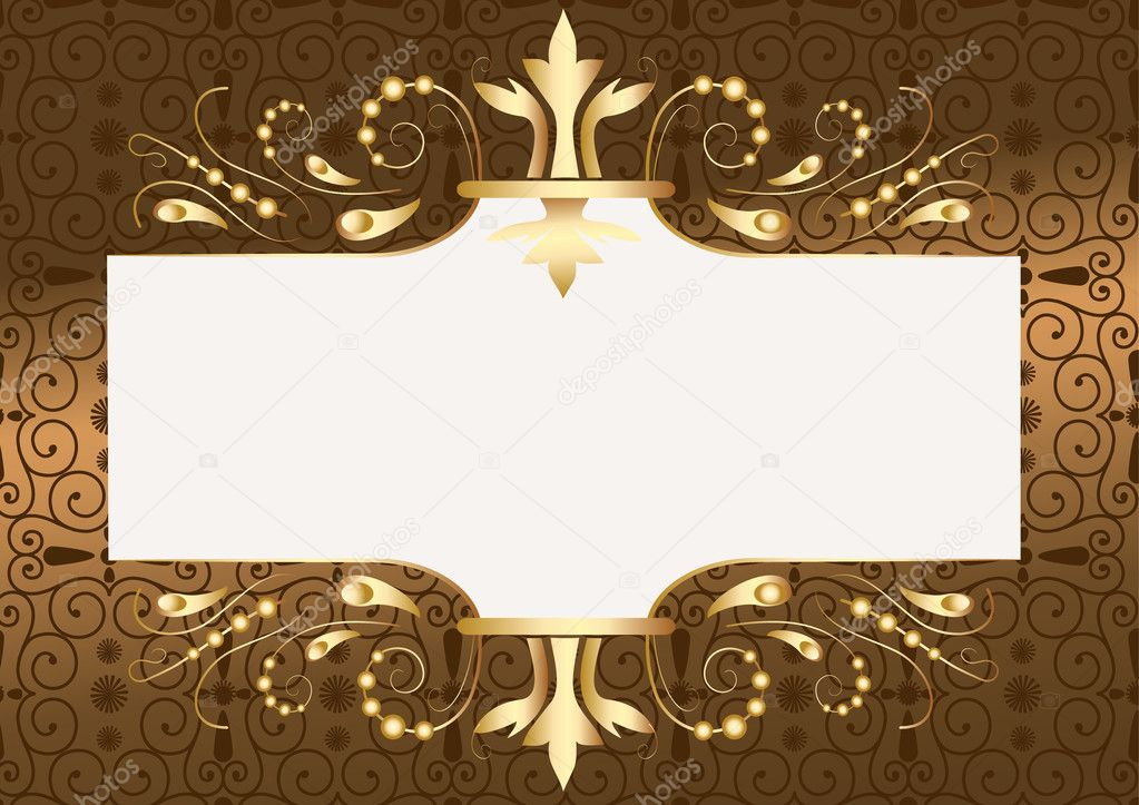 Frame gold  Stock Vector #1037117