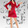 Royalty-Free Stock Vector Image: Girl red