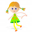 Stock Vector: Girl rope