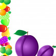 Royalty-Free Stock Vector Image: Plum and fruit