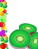 Fruta de kiwi — Vector de stock