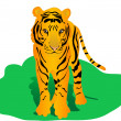 Tigre — Vector de stock