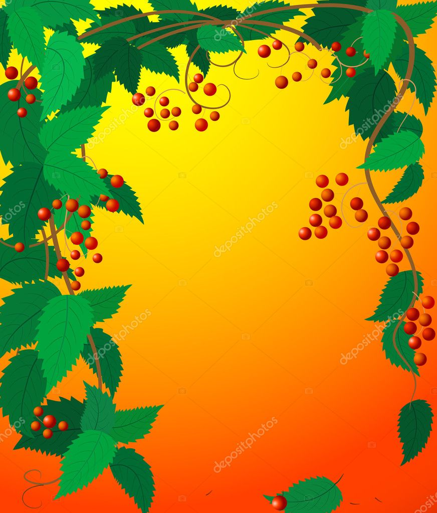 Frame leaves — Stock Vector #1086920