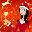 Royalty-Free Stock Vector Image: Santa girl