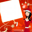Santa girl4 — Stock Vector