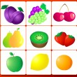 Royalty-Free Stock Vector Image: FRUIT number