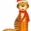 Tiger santa — Stock Vector #1158454