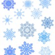 Snowflakes different2 — Stock Vector