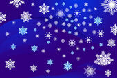 Snöflingor olika — Stockvektor