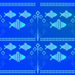 Royalty-Free Stock Vectorielle: Pattern_fish