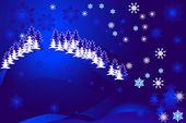 Night1 śnieżny — Wektor stockowy