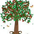 Stock Vector: Apple tree3