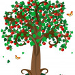 Apple tree3 - Stock Vector