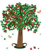 Apple tree3 — Vector de stock