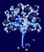 Snowy tree — Stock Vector