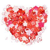 Valentine2 floral — Vector de stock