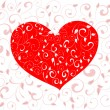 Royalty-Free Stock Vector Image: Patterned valentine