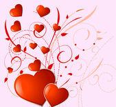 Valentine4 rojo — Vector de stock