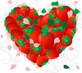 Strawberry valentine — Stock Vector
