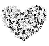 Valentine from butterflies — Stock Vector
