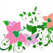 Tropical flowers4 — Stock Vector #1771124