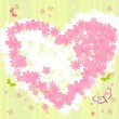 Romantic valentine flowers — Stockvector #1880649