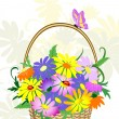 Royalty-Free Stock Vector Image: Flowers in the basket