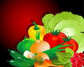 Vegetable set — Stock Vector