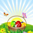 Easter Basket — Vector de stock #2365888