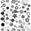Flowers leaves - Stock Vector