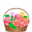 Rose Basket — Vector de stock #2579095