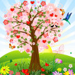 Romantic tree — Stock Vector #2609384