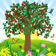 Royalty-Free Stock Vectorielle: Wild apple