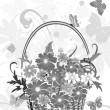 Flowers basket — Stock Vector
