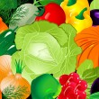 Vegetable background - 图库矢量图片