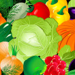 Vegetable background - Stock Vector