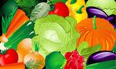 Vegetable background — Stock Vector