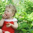 Royalty-Free Stock Photo: Child eats a strawberry