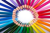 Bright multi-coloured circle — Stockfoto