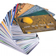 Pile credit cards — Stock Photo #1053865