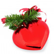 Royalty-Free Stock Photo: Red Christmas heart